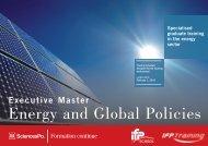 Presentation brochure, Energy and Public policies - Sciences Po