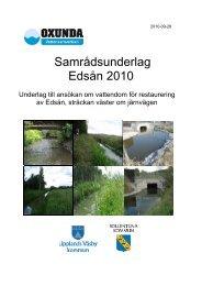 Samrådsunderlag Edsån 2010.pdf - Upplands Väsby kommun