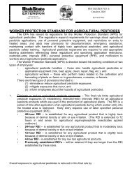 worker protection standard for agricultural pesticides