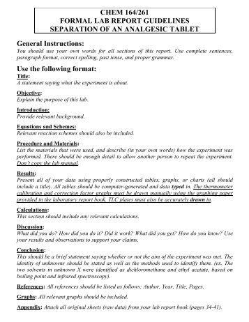 professional lab report