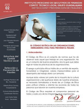 Estructura del Comité Técnico Local Detección y Prevención ... - IMEF