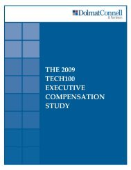 THE 2009 TECH100 EXECUTIVE COMPENSATION STUDY