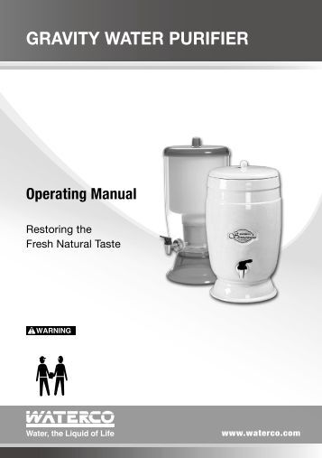 Water Distiller Manual ~ Learn about espring water purifiers amway