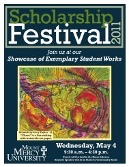 Wednesday, May 4 - Mount Mercy University