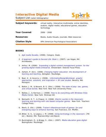 Interactive Digital Media - Library - Temasek Polytechnic