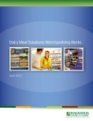 Dairy Meal Solutions: Merchandising Works - Innovation Center for ...