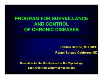 program for surveillance and control of chronic diseases