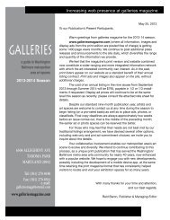 2013-2014info.media - Galleries Magazine