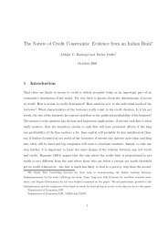 The Nature of Credit Constraints: Evidence from an Indian Bank