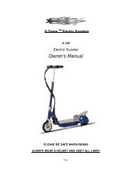 Electric Scooter Owner's Manual - X-Treme