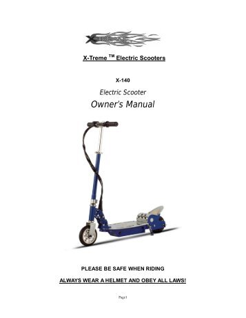 Electric Mobility scooter Repair Manual