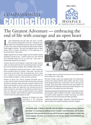 Compassionate Connections Fall 2011 - Hospice of Santa Cruz ...