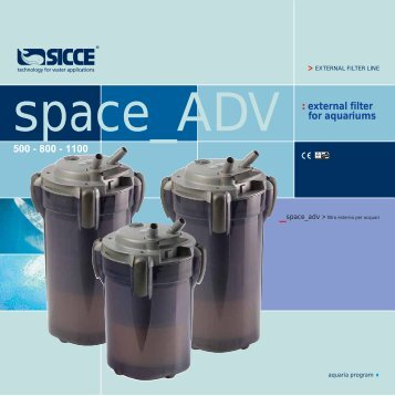 external filter for aquariums 500 - 800 - 1100 - Sicce S.p.A.