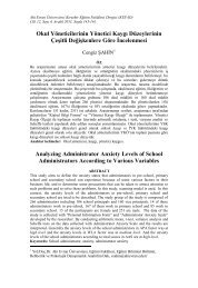 Okul Yöneticilerinin Yönetici Kaygı Düzeylerinin Çeşitli ... - KEFAD