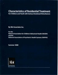 Characteristics of Residential Treatment - Georgia Association of ...