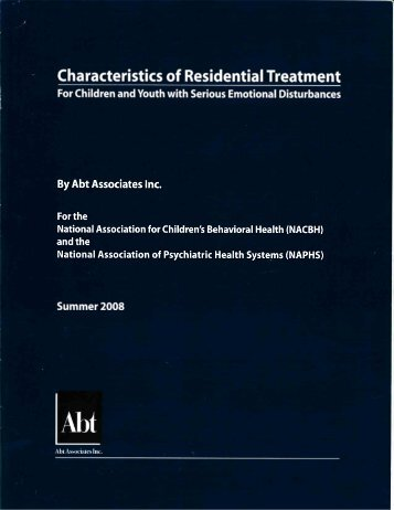 Characteristics of Residential Treatment - Georgia Association of ...