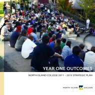 NIC Strategic Plan - Year One Outcomes - North Island College