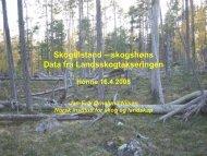 Skogtilstanden for skogshønsene v/ landskogtakseringen