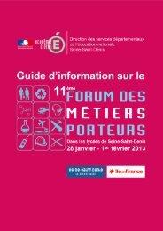 Guide d'information sur le forum des métiers porteurs - Inspection ...