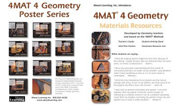 4MAT 4 Geometry Poster Series 4MAT® 4 Geometry - About Learning