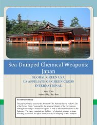 Sea-Dumped Chemical Weapons in Japan - Global Green USA