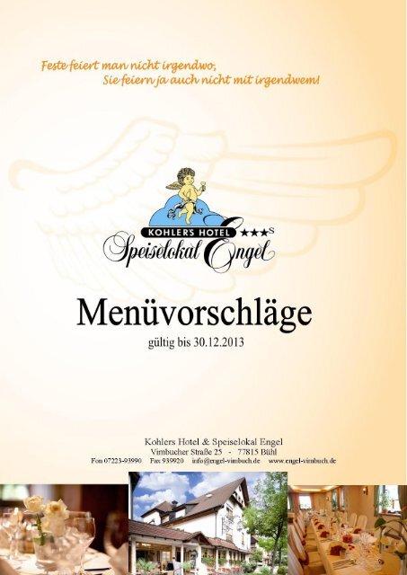 Menüvorschläge - Engel Vimbuch