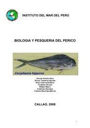 Biología y pesquería del perico - Imarpe