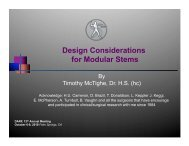 Design Considerations for Modular Stems - Joint Implant Surgery ...