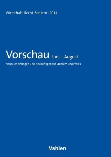 VorschauJuni – August