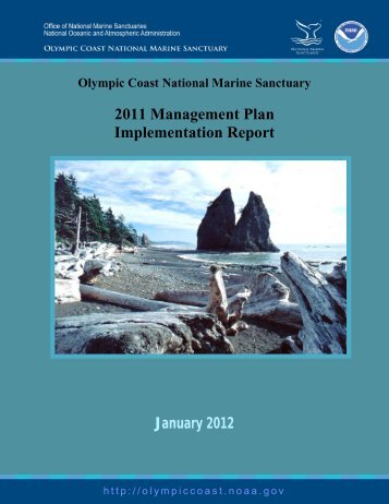 2011 Management Plan Implementation Report - Olympic Coast ...