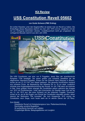 Kit Review USS Constitution Revell 05602