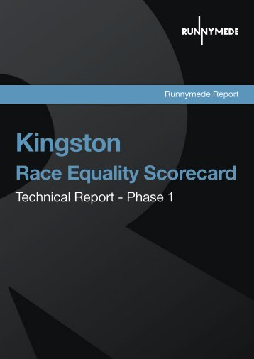 Kingston Race Equality Scorecard - Runnymede Trust