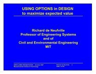 USING OPTIONS in DESIGN to maximize expected value - MIT SDM