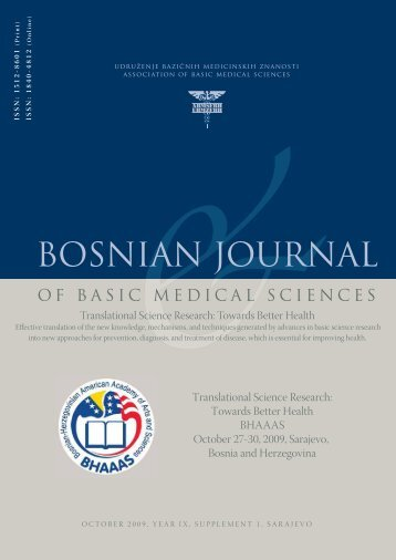 BOSNIAN JOURNAL OF BASIC MEDICAL SCIENCES 2005; 5 (1)