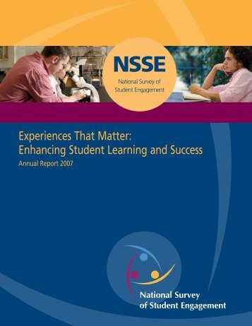 Experiences That Matter: Enhancing Student Learning and Success