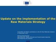Mrs. Malwina Nowakowska, European Commission - Euromines