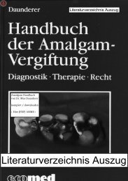 Handbuch der Amalgam-Vergiftung Band I, II, III - ToxCenter e.V.