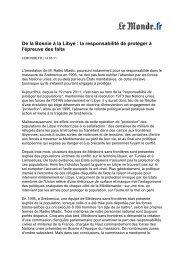 Tribune De la Bosnie à la Libye - Médecins Sans Frontières