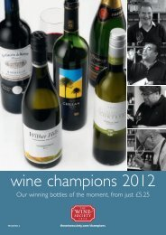 wine champions 2012 - The Wine Society