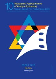 Katalog 2012 A4 pdf - Warsaw Jewish Film Festival