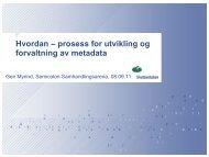 Hvordan – prosess for utvikling og forvaltning av metadata - Semicolon