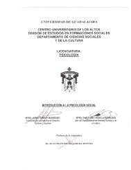 Introducción a la Psicología Social - Centro Universitario de los Altos