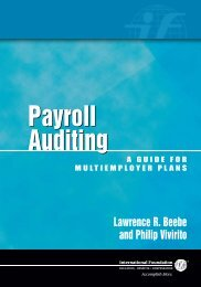 Payroll Auditing: A Guide for Multiemployer Plans, Sample Chapter