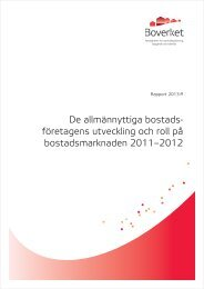 företagens utveckling och roll på bostadsmarknaden 2011 ... - Sabo