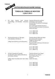 untuk kegunaan rasmi sahaja timbalan-timbalan menteri 2 july 2013