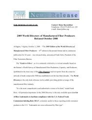 2009 World Directory of Manufactured Fiber ... - FiberSource