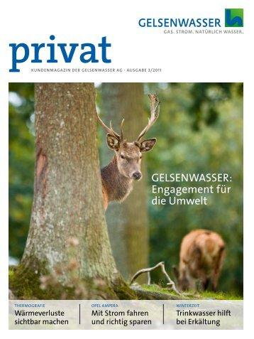 Kundenmagazin privat, Ausgabe 3/2011 (PDF 6 ... - Gelsenwasser AG