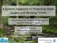 A Systems Approach to Protecting Water Quality and Working Forests
