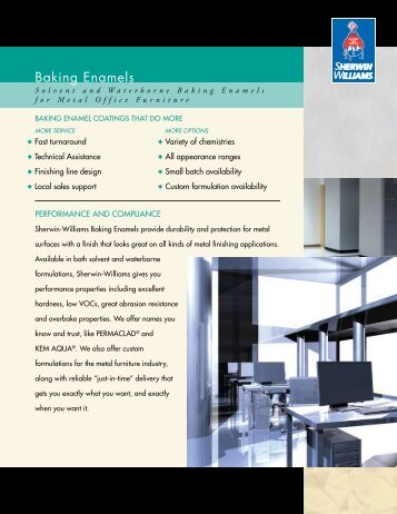 Baking Enamels - Sherwin-Williams Product Finishes
