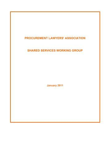 procurement lawyers' association shared services working group